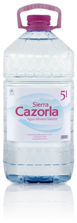 Productos naturales y BIO | AGUA MINERAL SIERRA CAZORLA 5 L X 2UD