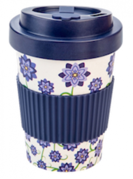 Productos naturales y BIO | BAMBOO COFFEE CUP 0.3L BOUQUET OF FLOWER