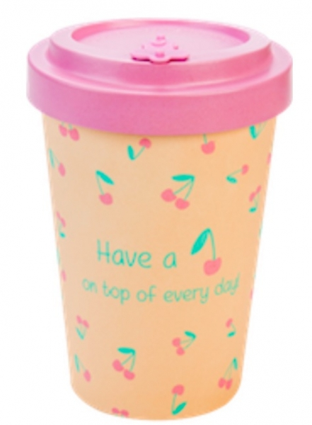 Productos naturales y BIO | BAMBOO COFFEE CUP 0.4L CHERRY