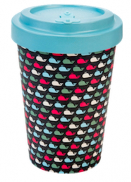 Productos naturales y BIO | BAMBOO COFFEE CUP 0.4L WHALES