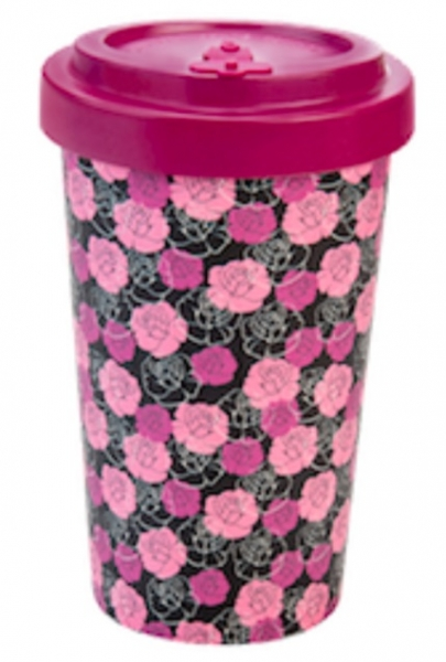 Productos naturales y BIO | BAMBOO COFFEE CUP 0.5L ROSES